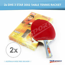 2x DHS 3002 3 Star Table Tennis Bat Racket Long Handle Ping Pong Paddle