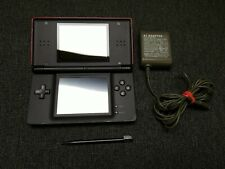 Nintendo DS Lite Console Crimson Red and Black with Charger and Stylus
