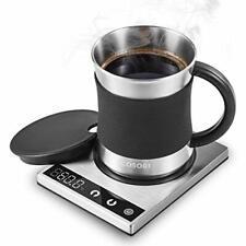 Coffee Mug Warmer & Mug Set Electric LED Backlit Display 500ml Mug & Lid COSORI