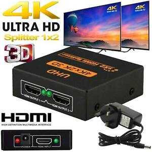 2160-P 1 IN 2 OUT 1 INPUT 2 OUTPUT HDMI SPLITTER 2 WAY SWITCH BOX HUB 4K UHD 3D