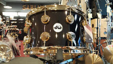 DW Drum Workshop Collectors 8x14 Black Nickel Over Brass Snare Drum Gold HW