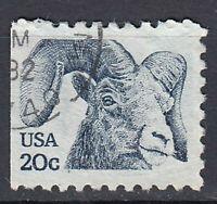USA Briefmarke gestempelt 20c Steinbock Tier Rundstempel / 2309