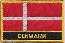 Denmark Flag Embroidered Patch Badge - Sew or Iron on