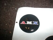 "AMERICAN MOTORS AMC AMX A-M-X TRI COLOR LOGO STEERING WHEEL DECAL EMBLEM 1"""
