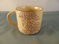 Starbucks Leaf Coffee mug tea cup pressed design 14 oz falling leaves nature art