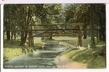 Rustic Bridge in South Park, Rochester, New York 1907 - 1915 Landscapes Postcard