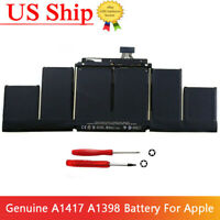 Genuine A1417 Battery for Apple A1398 2012 Early-2013 Version MacBook Retina Pro