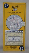 France - Michelin 1:200,000 Map - Clermont-Ferrand & Lyon - Sheet 73 - 1971