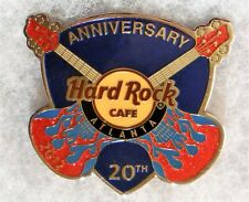HARD ROCK CAFE ATLANTA 20TH ANNIVERSARY CROSSED GUITARS BLUE GUITAR PICK MAGNET
