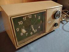 Vintage 1960's Working Rca Am Clock Radio Model Rzd 402B Chamois Am540-1600kHz