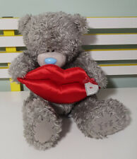 FROM ME TO YOU BLUE NOSE BEAR WITH KISSES LIPS 35CM! SOFT TEDDY BEAR PLUSH TOY!