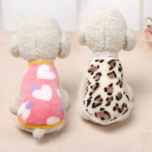 Cartoon Small Dog Clothes Pet Puppy Cute Vest Dog Cat Apparel 2 Colors XS-XL