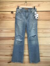 Joes Jeans 27 Wasteland Flare High Rise Light Wash Margie Distressed NWT B49