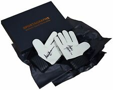 Andy Goram SIGNED Pair Goalkeeper Gloves Autograph Gift Box Rangers PROOF COA