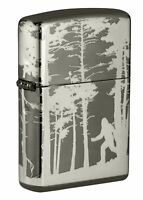 Zippo Squatchin' In The Woods Design Black Ice 360 Windproof Pocket Lighter, ...