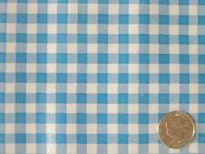 AQUA GINGHAM CHECK RETRO KITCHEN PATIO PICNIC OILCLOTH VINYL TABLECLOTH 48x72