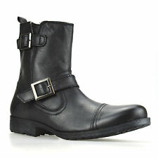 Zip 100% Leather Boots for Men