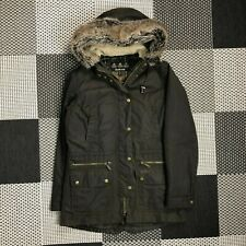 BARBOUR kelsall wax jacket parka size 10 women