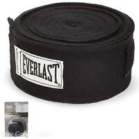Everlast Professional Hand Wraps 180-Inch Black Boxing MMA Sports Muay Thai New