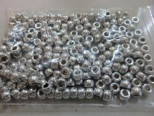 Pony Beads - 9x6mm - 200pcs -  Silver - NEW - AUS SELLER