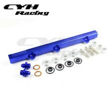Aluminium Fuel Rail Kits For Mitsubishi Lancer EVO 1 2 3  4G63T 92-95-Blue