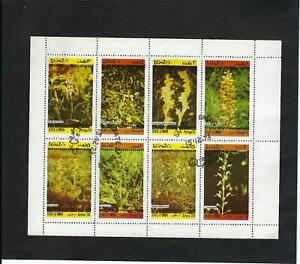 ''ORCHIDS.-  STATE OF OMAN.- > S/SHEET {8 stamps} 1973