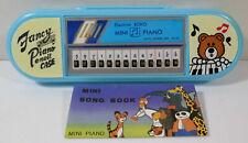ELECTRON ECHO VTG 80's MINI PIANO + SONG BOOK IN LIGHT BLUE PENCIL CASE TAIWAN