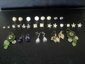 Vintage Earrings Job Lot x 15 Pairs