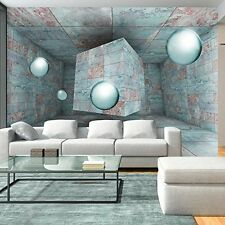 3D DESIGN FOTO VLIES TAPETE || BETONOPTIK KUGELN || 350 x 245 cm || NEU
