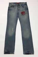 Charro jeans donna usato vintage rosa w26 tg 40 straight slim gamba dritta T3288