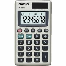 Casio HS85TE-SB 8 digit Display Pocket Calculator Tax Calculations HS-85TE New
