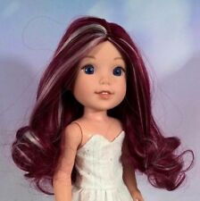 "8-9"" Custom Doll Wig fits Dolfie, Luts, Wellie Wisher ""Lil' Licorice Stick"" bn1"