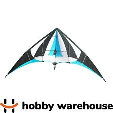Dual Line 1.2m Stunt Kite - Blue, White, Black