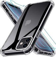 COQUE IPHONE 12 / 12 pro 11 pro max XR XS + 2X VITRE housse silicone transparent