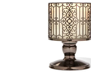 Bath and Body Works Ornate Gate 3 Wick Candle Holder Pedestal  NEW