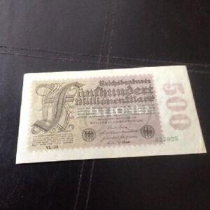 500 million mark bank note - hyperinflation era Germany 1923