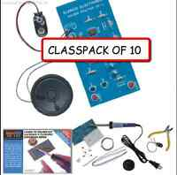 (CLASSPACK OF 10) ELENCO AK-100 Beginner Learn to solder kit with Tools