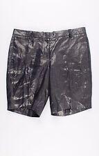 NWT J Crew Navy Blue Metallic Bermuda Shorts Size 4