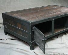 Vintage Industrial Coffee Table. Reclaimed Wood & Steel . Rustic Style. Handmade