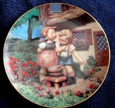 """1990 M J Hummel Collector Plate Little Companions """"Squeaky Clean"""" Plate A7684"""