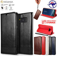 Luxury Leather magnetic Flip wallet Case Cover For Samsung Galaxy S7& S8 S8 Plus