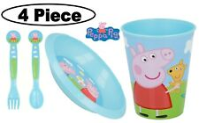 Peppa Pig 4Pc Licenced Character Breakfast Set Inc Tumbler, Bowl,Fork and Spoon