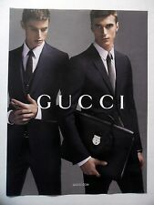 PUBLICITE-ADVERTISING :  GUCCI Costume Homme  2014 Mode,Serviette