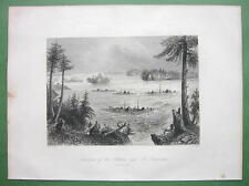 CANADA Ottawa and St. Lawrence Rivers - 1841 Engraving Print by BARTLETT