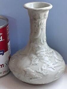 Old Antique Vintage Chinese Oriental Dragons Celadon Vase
