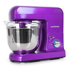 Rührmaschine Küchen Knet Maschine Elektrisch Edelstahl Schüssel 5L 1000W Lila