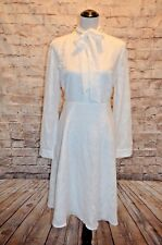 Modcloth Dignified Delivery Shirt Dress White NWOT XL squares tie neck