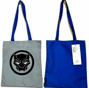 Marvel BLACK PANTHER 13.75 x 12.5 in. Canvas Tote Re-Usable Shopping Bag