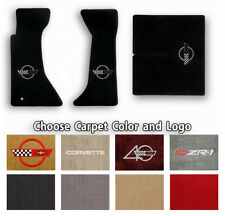 Corvette C4 3pc Classic Loop Carpet Floor Mats-Choice of Carpet Color & Logo