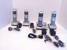 Panasonic KX-TG1031S Cordless Landline w/4 Phones Answering Machine & Batteries